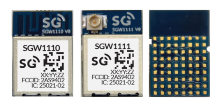 Certified SGW111X Bluetooth 5/BLE Module with Nordic's nRF52840 SoC, EVK plugs to Arduino for Mesh and NFC programming